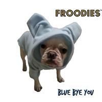 French Bulldog Boston Terrier Froodies Hoodies USA Blue Fleece Sweatshirt Jacket