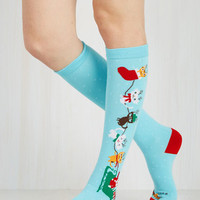 Kawaii Up on the Housetop, Reindeer Paws Socks Size OS by ModCloth