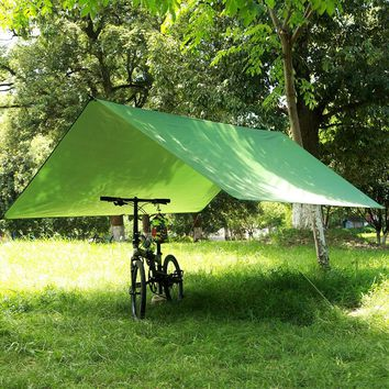 3MX3M Anti UV Ultralight Sun Shelter Beach Tent Pergola Awning Canopy 210T Taffeta Tarp Camping Sunshelter for Picnic Mat Beach