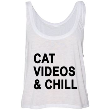 Cat Videos & Chill Cropped Tank Top