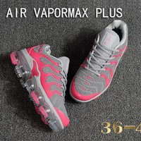 Nike Air Vapormax Plus Tn Ultra Gray Pink VM Running Shoes