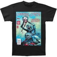 Cannibal Corpse Men's  Comic Book T-shirt Black