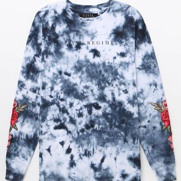 Civil Roma Roses Washed Long Sleeve T-Shirt at PacSun.com - blue | PacSun