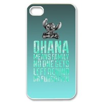 Custom Ohana Personalized Case for iPhone 4/4s SP-4643