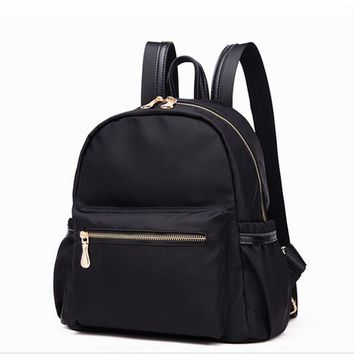 DHL Free Shipping! HazyBeauty Water-proof Nylon with real leather binding Fashion shoulder bags backpacks