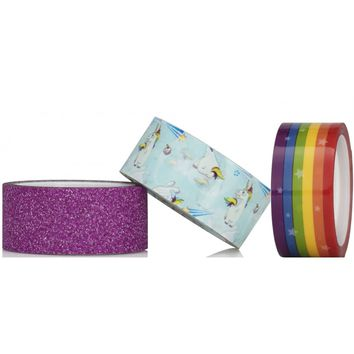 Unicorn Tape - 3 Rolls of Magical Sticky Tape