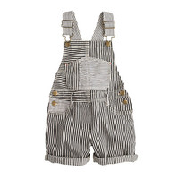 crewcuts Girls Denim Overalls In Railroad Stripe