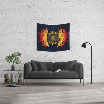 Sun Star Spirit Wall Tapestry by inspiredimages