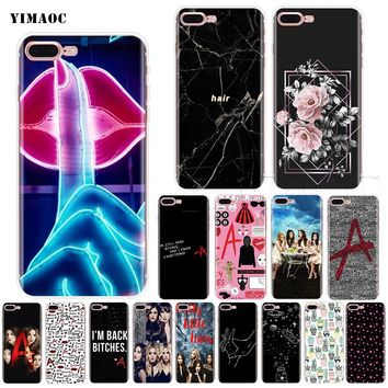 YIMAOC Pretty Little Liars Soft Silicone Case for iPhone XS Max XR X 8 7 6 6S Plus 5 5s se