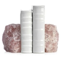 Rose Quartz Bookends | Bookends | Office & Organization | Decor | Z Gallerie