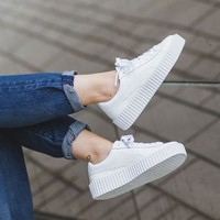 "x Rihanna Suede Creepers ""Triple White"""