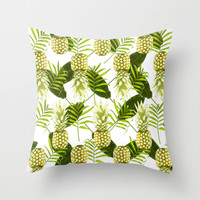 Tropical Pineapple Throw Pillow by Grace