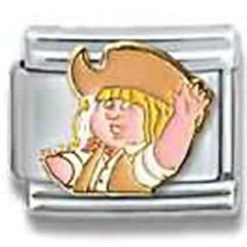 CABBAGE PATCH KIDS Cowgirl Officially Licensed Italian Charm