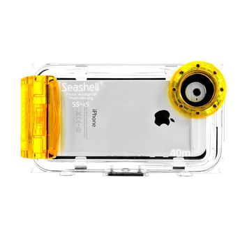 Seashell Waterproof Photo Housing Underwater Case for iPhone 5 5s 5c - Yellow