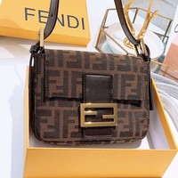 FNEID casual ladies canvas printed gold button cross shoulder bag
