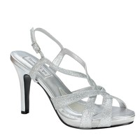 Dina by Touch Ups Silver Shoes   Prom Shoes   Homecoming Shoes   Bridal Shoes   GownGarden.com