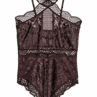 Lace body - Brown - Ladies | H&M GB