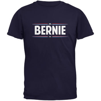 Election 2016 - Bernie Thin Stripes Navy Adult T-Shirt