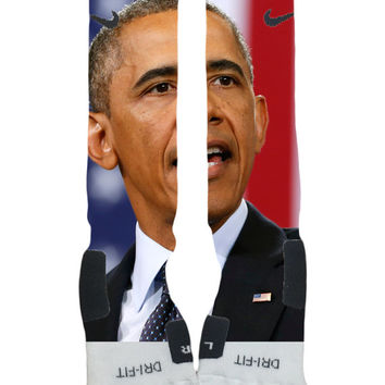 Custom Nike Elite Socks-Barrack Obama