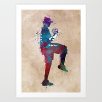 Baseball player 6 #baseball #sport Art Print by jbjart