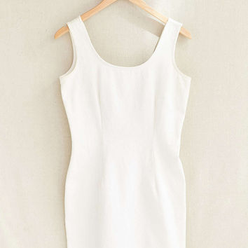 Vintage White Denim Dress - Urban Outfitters
