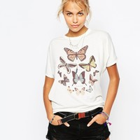 Element T-Shirt With Festival Butterfly Print