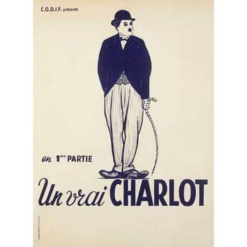French Charlie Chaplin Movie poster