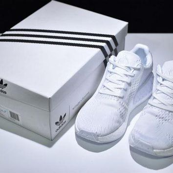 """VLX0E4 wings+horns x adidas Originals NMD_R2 Boost Running Shoes """"ALL WHITE�BB3120"""