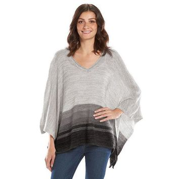 DCCKX8J SONOMA life style Striped Sweater Poncho - Women's Size