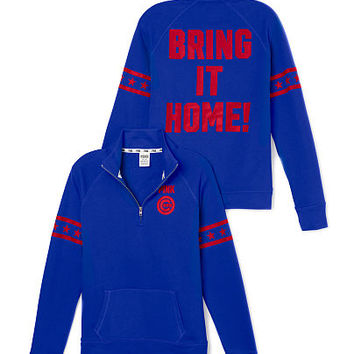Chicago Cubs Half-Zip Pullover - PINK - Victoria's Secret
