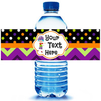 Halloween Party Water Bottle Label 5ct - Party Supplies - Halloween Party Favors - Zombie favors - Walking Dead Party- FREE Personalization