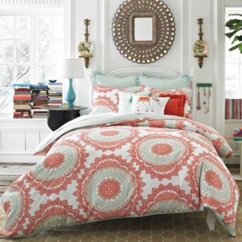 Anthology™ Bungalow Reversible Comforter Set in Coral