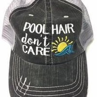 Pool Hair Don't Care Baseball Cap