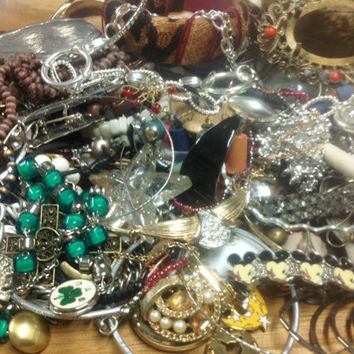 Boho to Vintage to Current Jewelry Destash - Mixed Media, Collage or Upcycle Haul - Lot 5