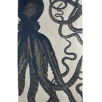 Nautical Octopus Beach Blanket