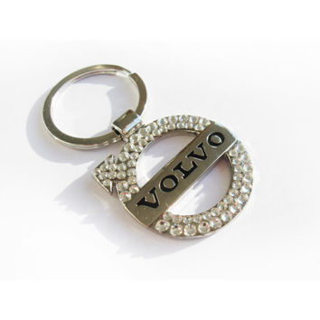 VOLVO Keyring decorated with Swarovski crystals