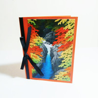 Fall Note Card | Blank Card | All Occasion | River Greeting Card | Unique Thank You | Friendship Card | Japanese Scene | Pretty Card