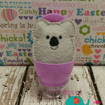 Tiny stuffed koala egg buddy, embroidered, party favor, stuffed animal, stuffie, travel toy, stuffed toy, embroidery, grab bag, easter