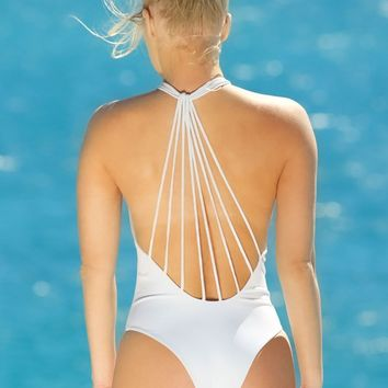 Elizabeth Jane White Plunge One Piece