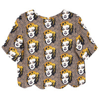 ROMWE Marilyn Monroe Print Short-sleeved T-shirt
