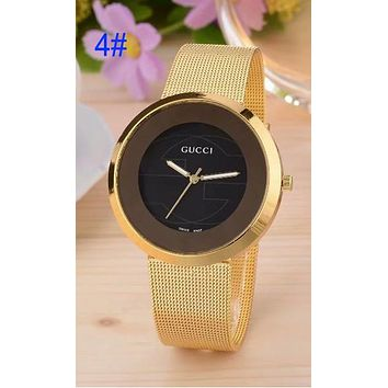 GUCCI 2018 trendy brand men and women trend quartz watch F-CTZ 4#