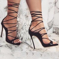 Sexy Ankle Lace-Up Stiletto High Heels