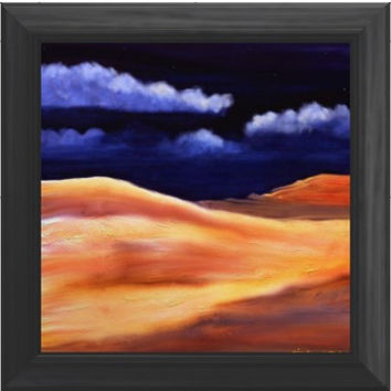 Impressionist Desert Landscape  Digital Painting signed art print 6x4 nature night