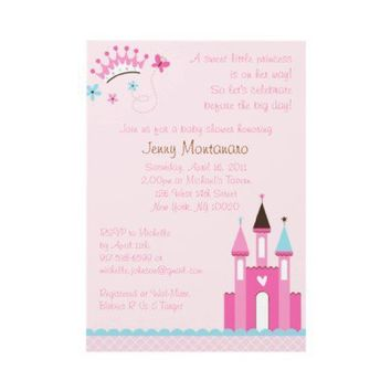 Sweet Princess Baby Girl Baby Shower Invitations from Zazzle.com