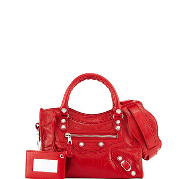 Giant 12 Golden City Mini Bag, Red - Balenciaga