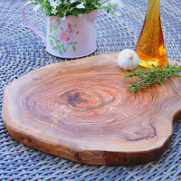 natural olive wood chopping board - save 20% by the rustic dish | notonthehighstreet.com