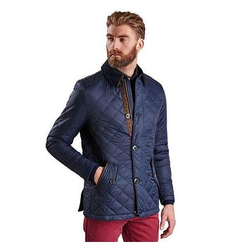 Fortnum Quilted Jacket in Navy by Barbour