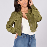 It Was All A Dream Jacket - Olive