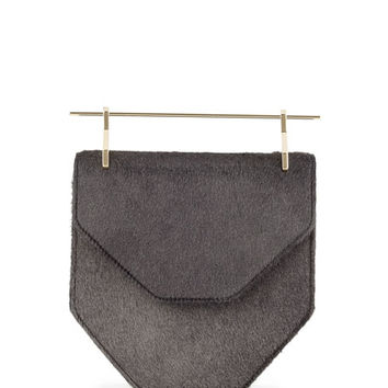 M2Malletier Amor Fati Calf Hair Flap Bag, Black