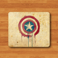 Vintage America Cartoon Parchment Mouse Pad Hero Captain US Mousepad Toy Accessory Computer Personalize Work Pad Kid Gift Watercolor Art
